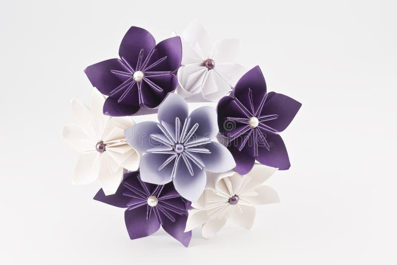 Ramalhete do papel do casamento de Origami imagem de stock royalty free
