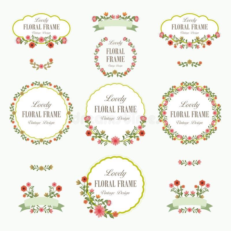 Ramalhete do projeto bonito das flores ilustração royalty free