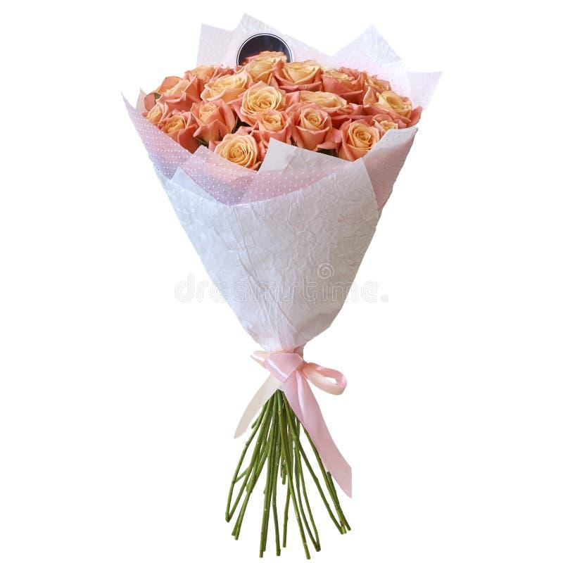 Ramalhete festivo das flores em um pacote bonito imagens de stock royalty free