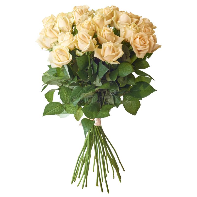 Ramalhete festivo das flores em um pacote bonito foto de stock