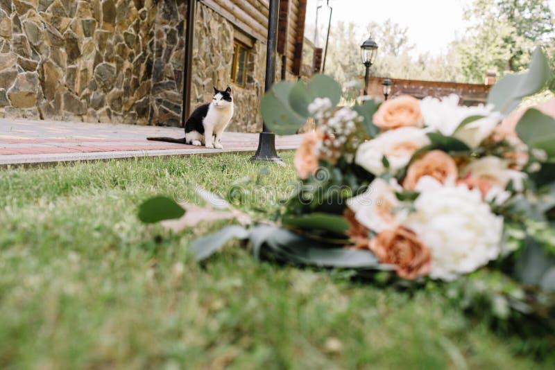 Ramalhete lindo bonito do casamento do ramalhete A do casamento do verão imagens de stock royalty free
