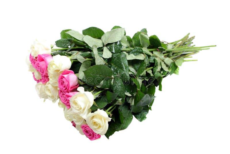 Ramalhete molhado das rosas. fotografia de stock royalty free