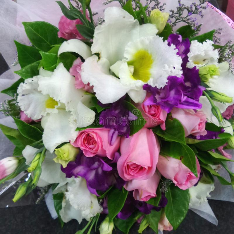 ramalhete multicolorido das flores fotografia de stock
