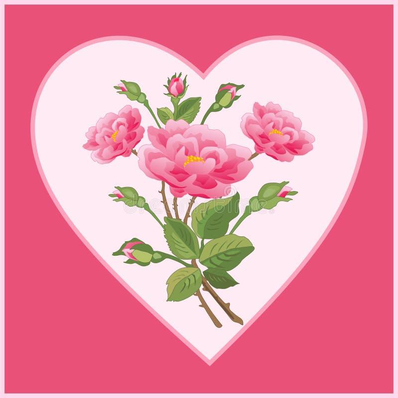 Ramalhete no coração imagens de stock royalty free