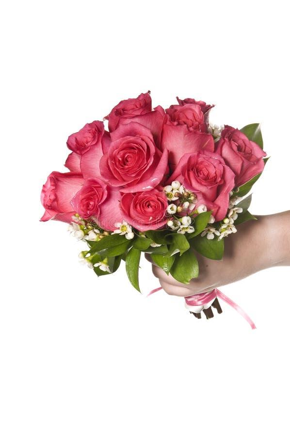 Ramalhete nupcial cor-de-rosa de Rosa foto de stock