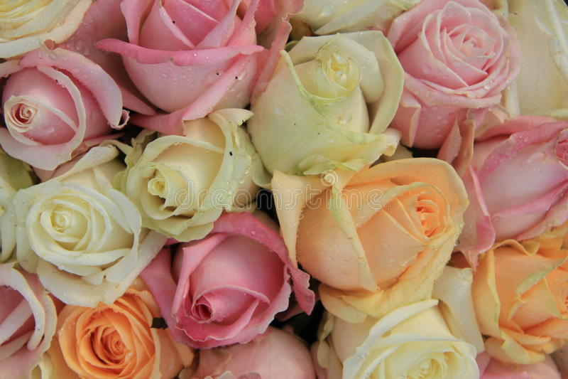 Ramalhete nupcial da rosa misturada foto de stock royalty free