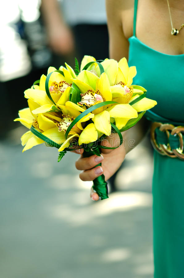Download Ramalhete Nupcial Das Orquídeas Imagem de Stock - Imagem de alaranjado, projeto: 26507883