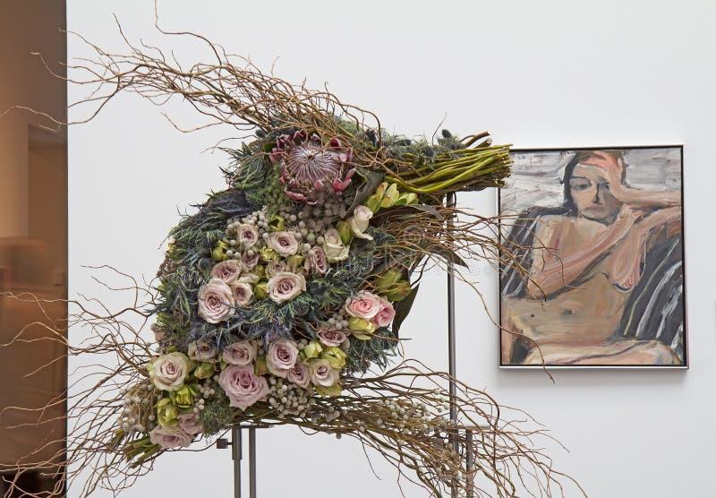 Ramalhetes à exposição 2014 da arte imagem de stock