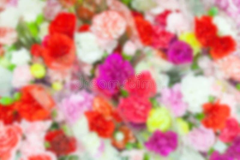 Ramalhetes coloridos da flor no borrão foto de stock royalty free