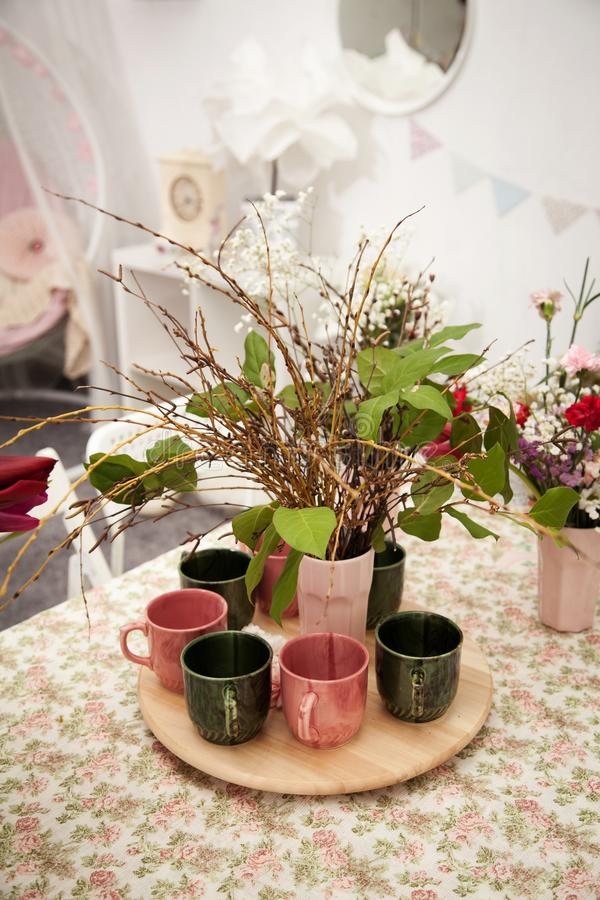 Ramalhetes de arranjos de flor imagem de stock royalty free