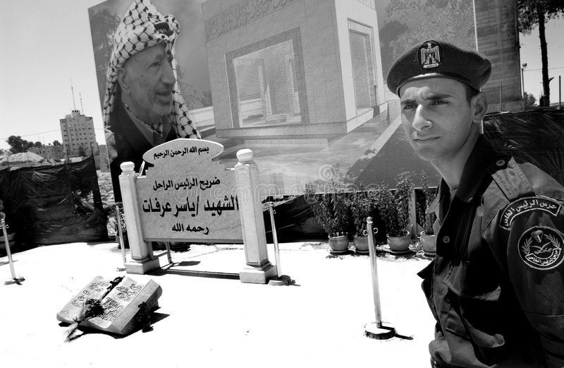 ramallah στρατιώτες standig στοκ φωτογραφίες