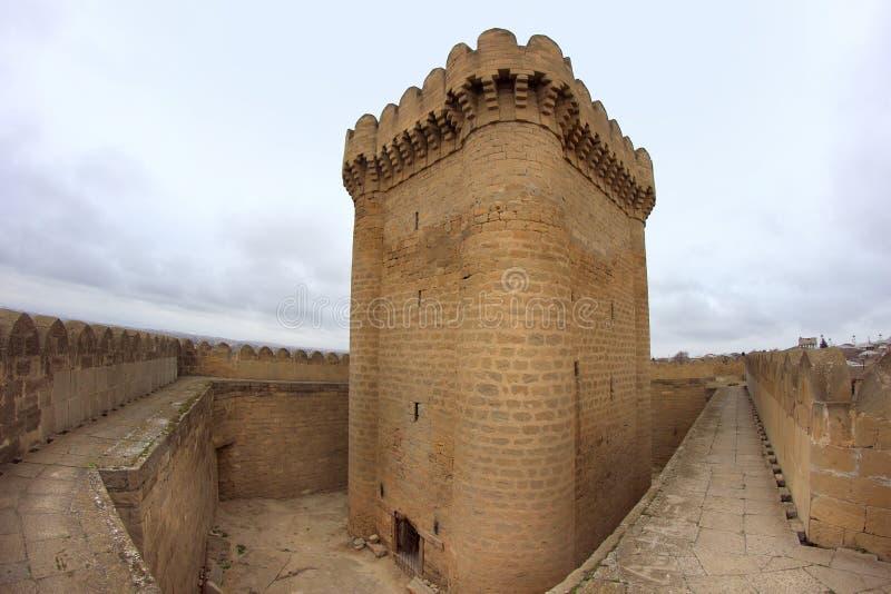 Ramana城堡在巴库附近的Ramana村庄 免版税库存图片