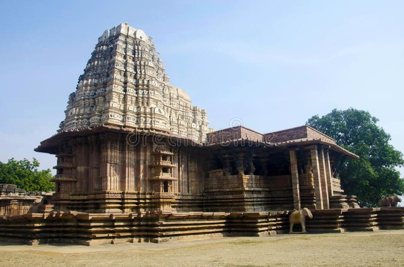 Ramappa Temple, Palampet, Warangal, Telangana, India. stock photo