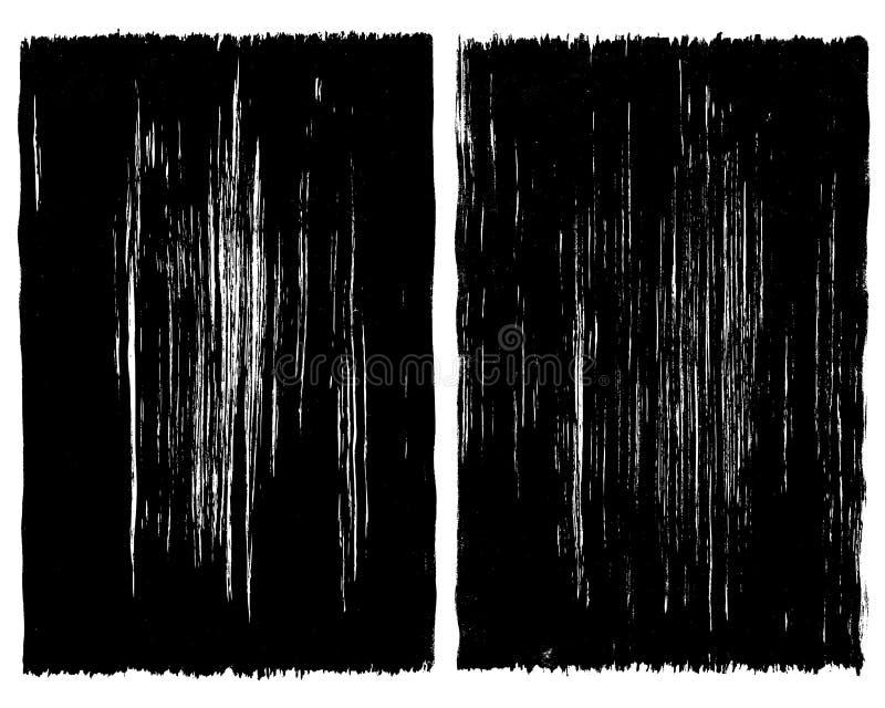 Ramar för bakgrund för Grungeborsteslaglängd vektor illustrationer