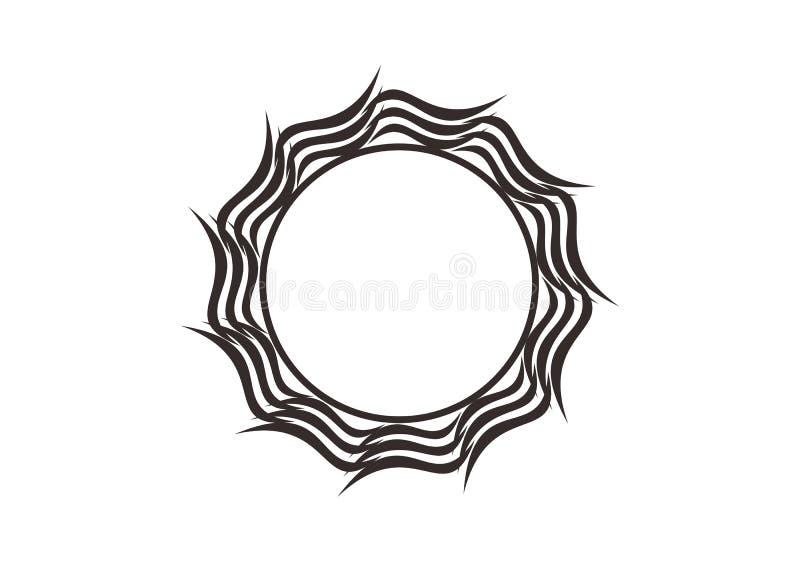 Ramar för cirkel för vektordiagram Kransar f?r designen, logomall stock illustrationer
