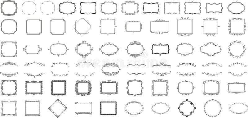 Ramar för logoer och emblem vektor illustrationer