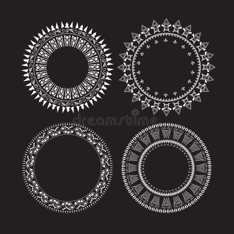 Ramar för runda för tappningcirkeluppsättning stock illustrationer