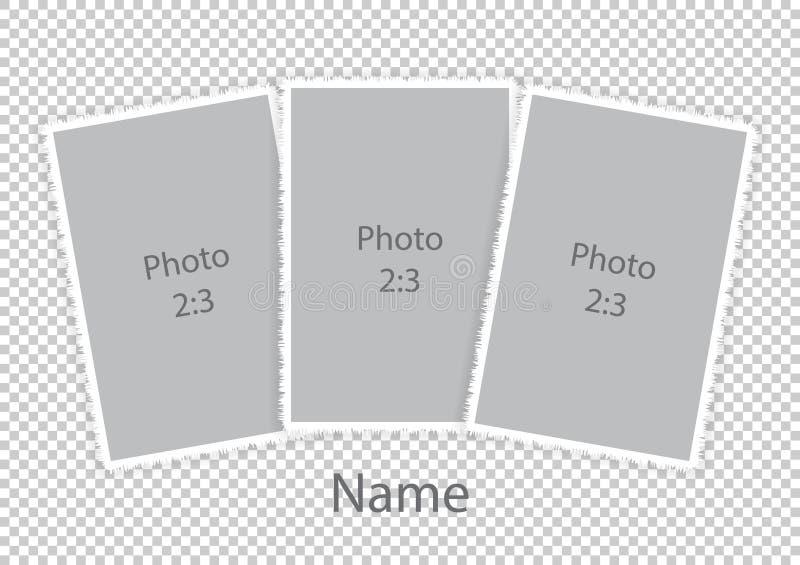 Ramar för vit för moderna photoframes för mall mjuka royaltyfri illustrationer