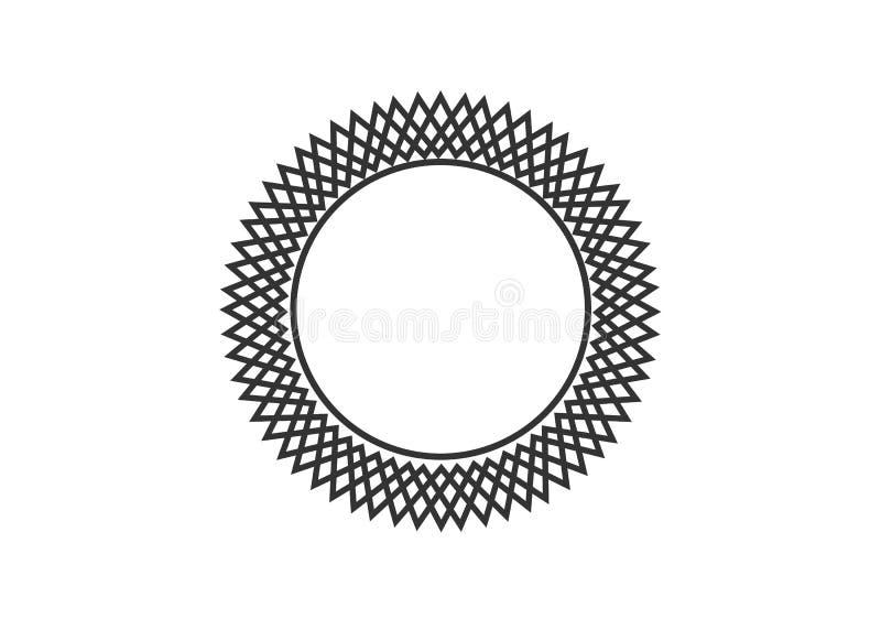 Ramar f?r cirkel f?r vektordiagram Kransar f?r designen, logomall royaltyfri illustrationer