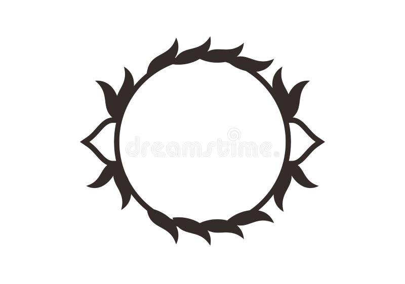 Ramar f?r cirkel f?r vektordiagram Kransar f?r designen, logomall stock illustrationer