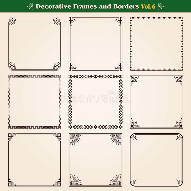 Ramar och gränsuppsättning 6 royaltyfri illustrationer