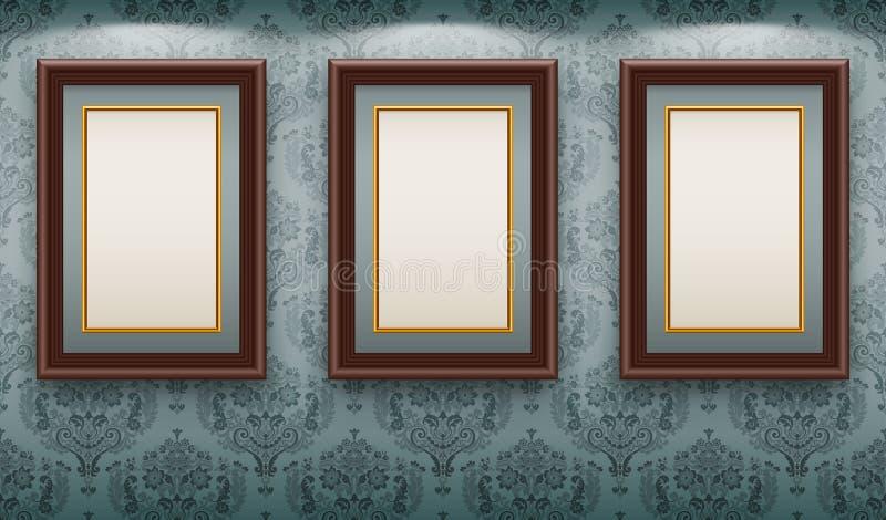 ramar wall trä vektor illustrationer