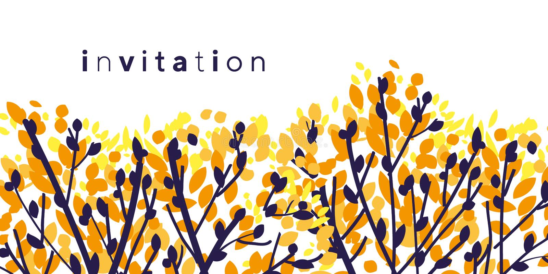Ramas de árbol abstractas coloridas del otoño stock de ilustración