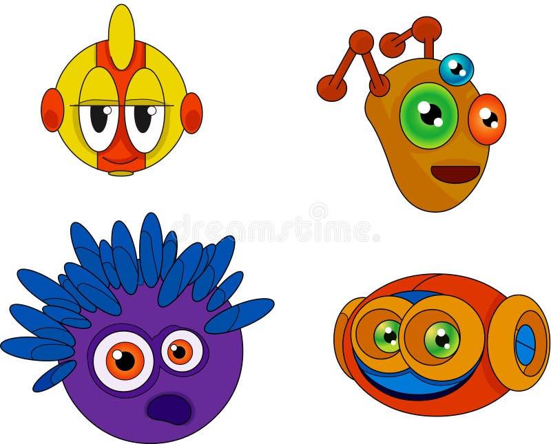 Ramassage 002 de conception de caractère : Étrangers illustration stock