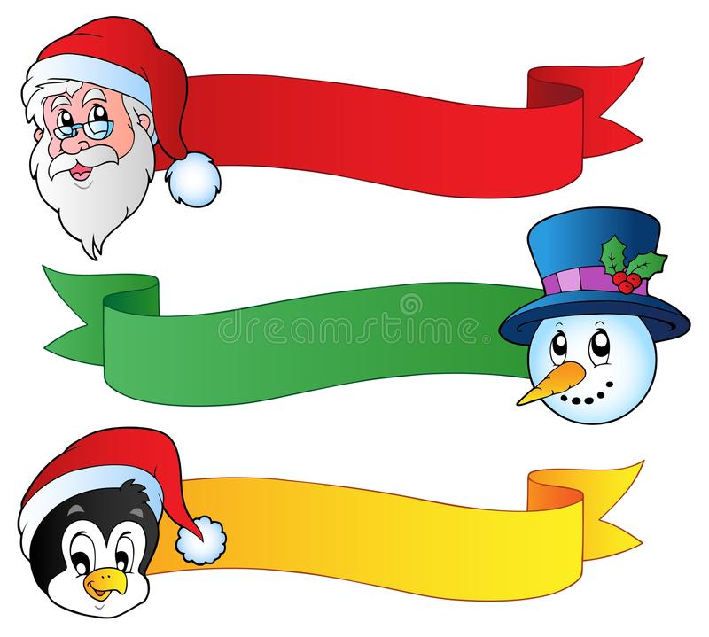 Ramassage 1 de bandes de Noël illustration stock