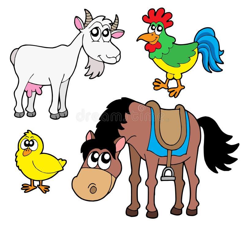 Ramassage 2 d'animaux de ferme illustration libre de droits