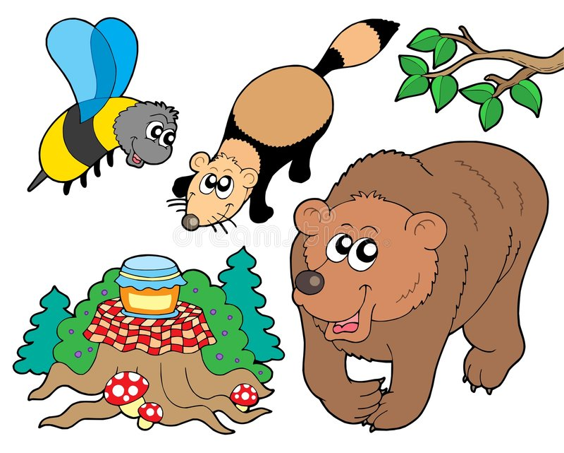Ramassage 2 d'animaux de forêt illustration libre de droits