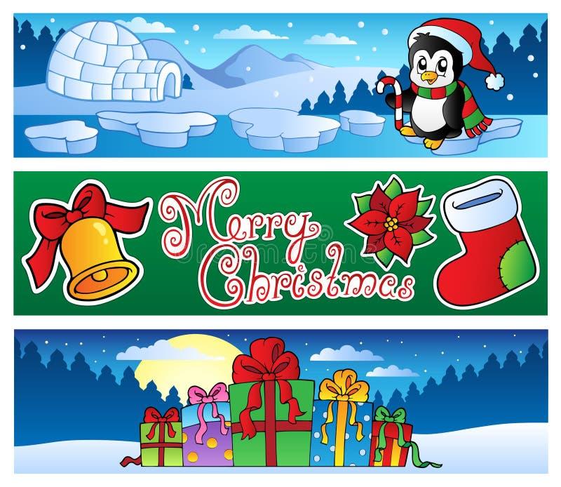 Ramassage 2 de drapeaux de Noël illustration libre de droits