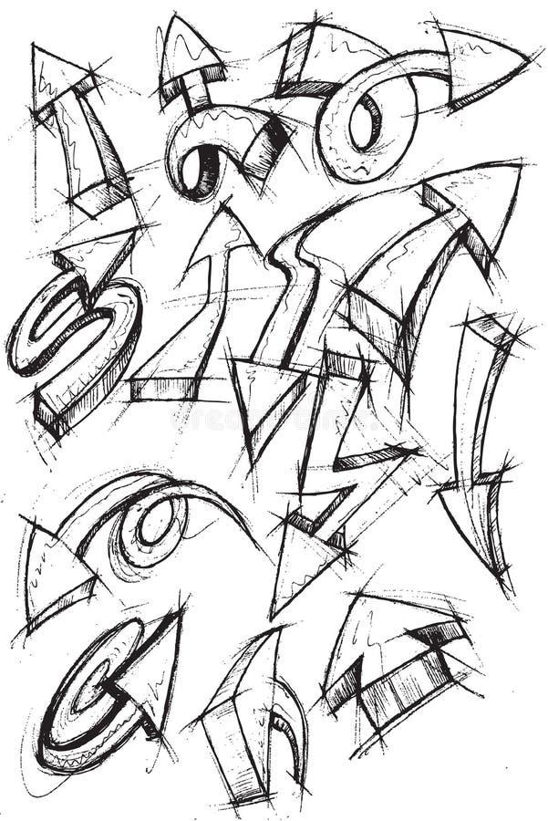 Ramassage d'élément d'attraction de main de flèches illustration de vecteur