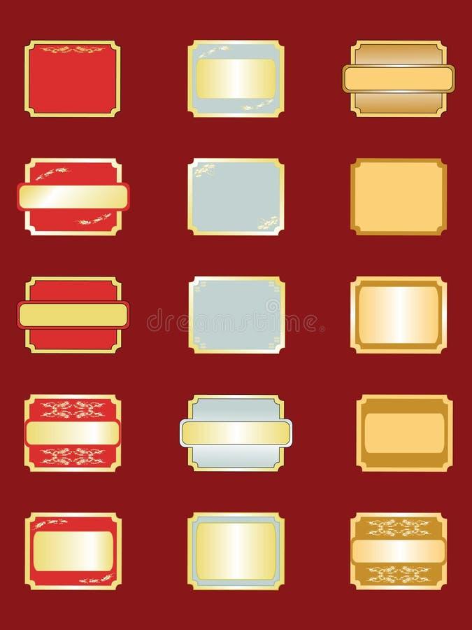 Ramassage d'étiquettes illustration stock