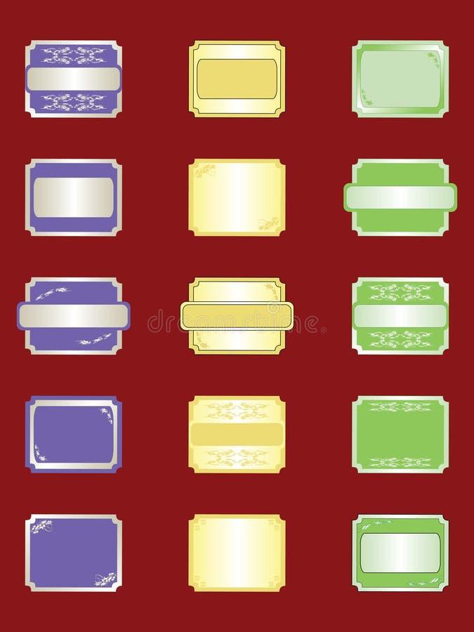 Ramassage d'étiquettes illustration libre de droits