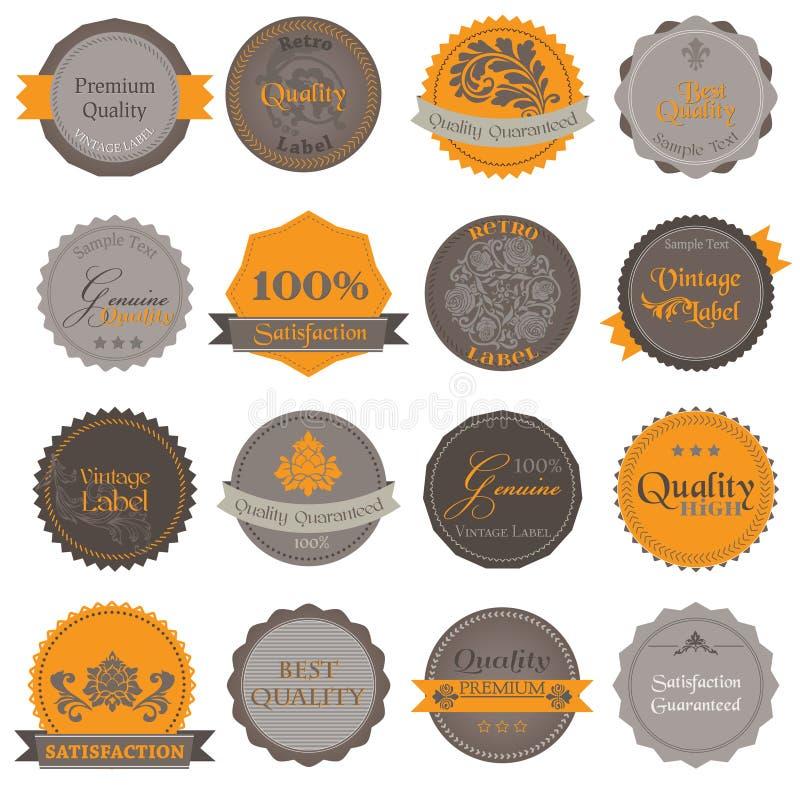 Ramassage d'étiquettes de la meilleure qualité de qualité illustration stock