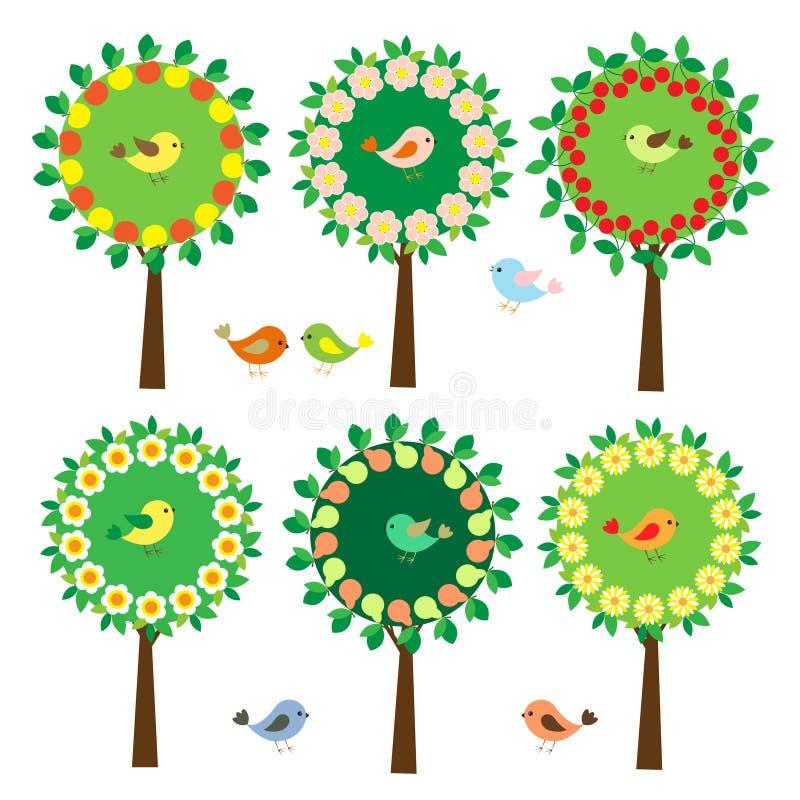 Ramassage d'arbres illustration de vecteur