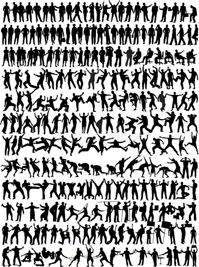 Ramassage d'homme - silhouett 245 illustration libre de droits
