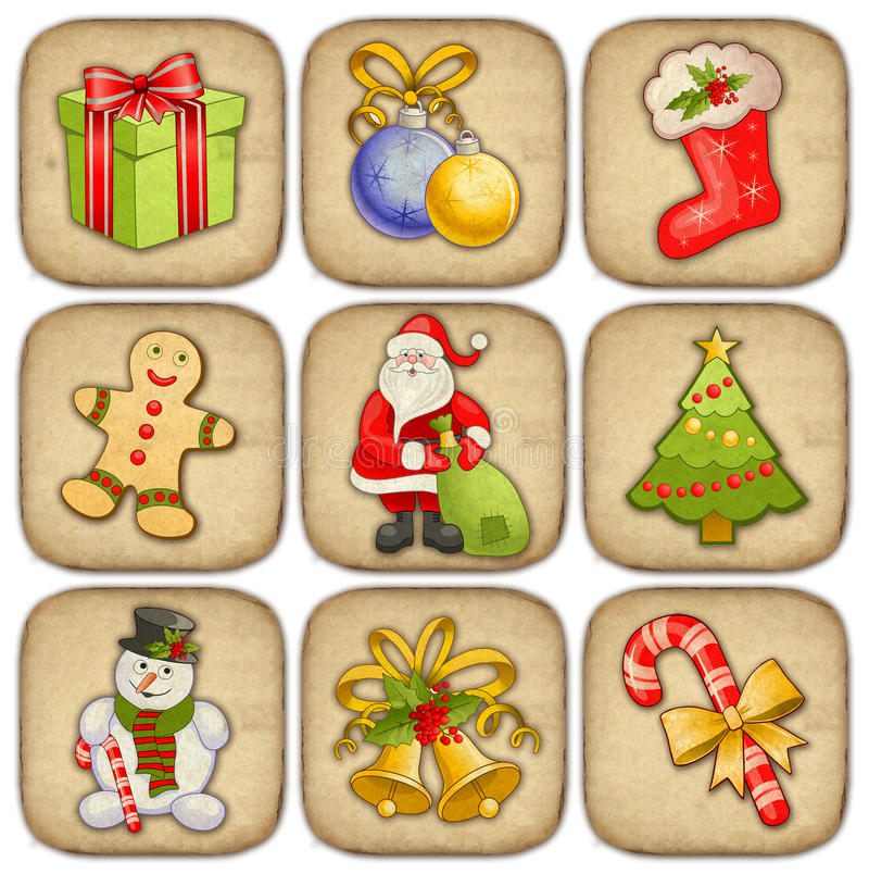 Ramassage d'illustrations de Noël illustration de vecteur
