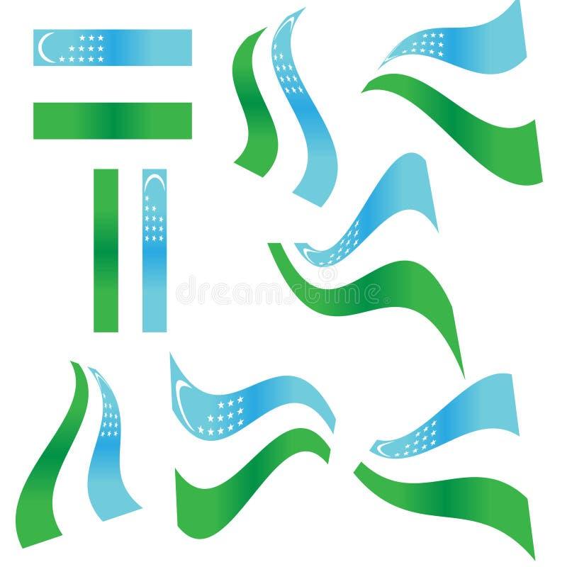 Ramassage d'indicateur d'Uzbekistan illustration de vecteur