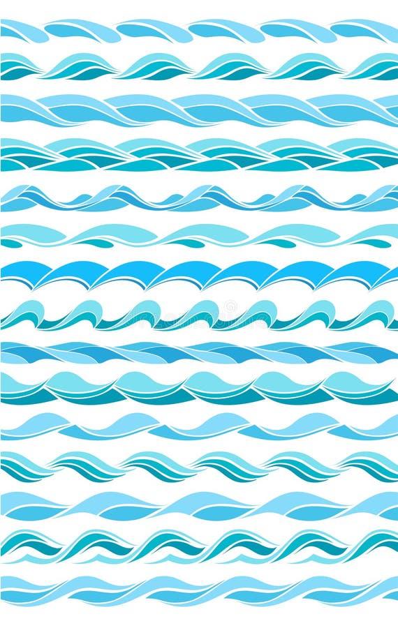 Ramassage d'ondes de marine, conception stylisée illustration de vecteur