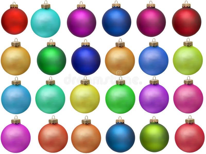 Ramassage d'ornement coloré de Noël photos libres de droits