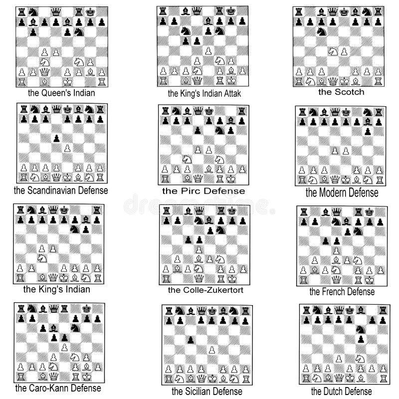 Ramassage d'ouvertures d'échecs illustration stock