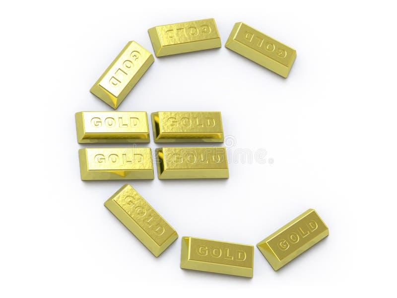 Ramassage d'or - poussée ici illustration de vecteur