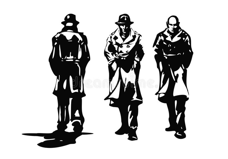 Ramassage de bandit illustration stock
