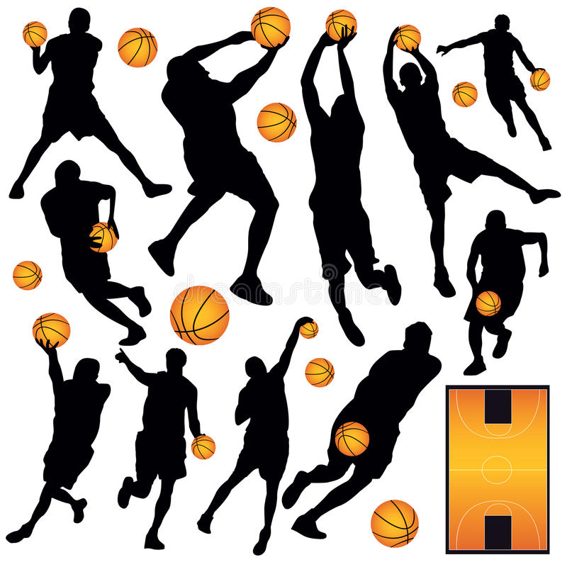 Ramassage de basket-ball illustration stock