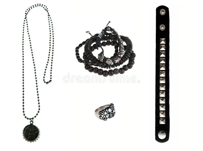 Ramassage de bijou noir de roche photos stock