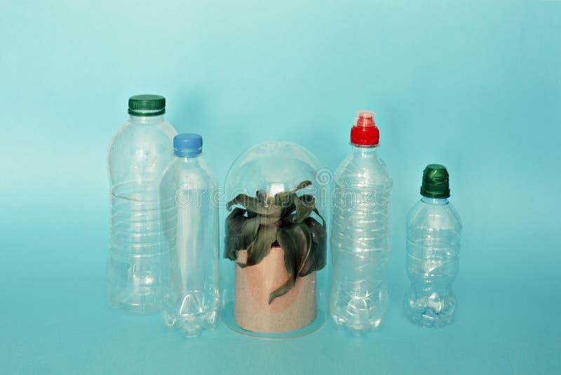Ramassage de bouteilles d'eau image libre de droits