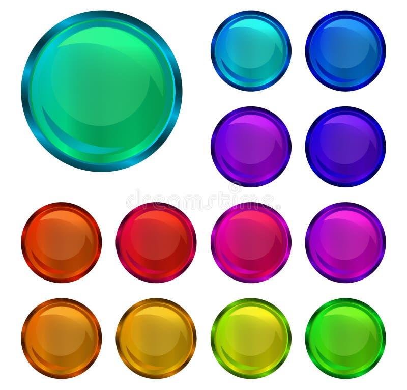 Ramassage de boutons lustrés photographie stock libre de droits