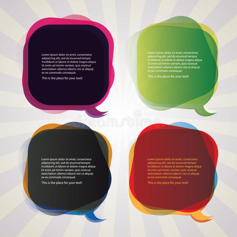 Ramassage de bulles colorées de la parole illustration stock